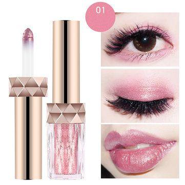 2 In 1 Mermaid Eye Shadow Makeup Waterproof Lipstick Loose Glitter Warm Eyeshadow Pigment