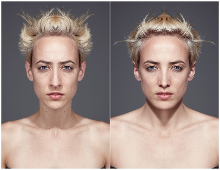Wait... What? My brain doesn't want to... ugh!   Symmetrycal portaits by JULIAN WOLKENSTEIN