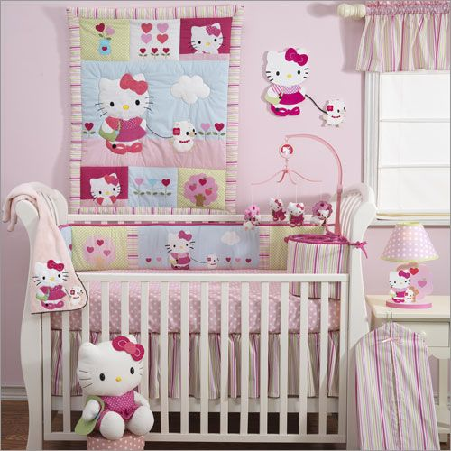 Hello Kitty babies room. Reasons my husband hopes we create boys..I need to pass down my Hello Kitty obsession some how. ;-)