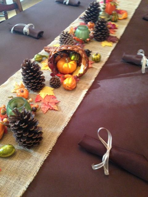 Chocolate Brown Tablecloth And Napkins With A