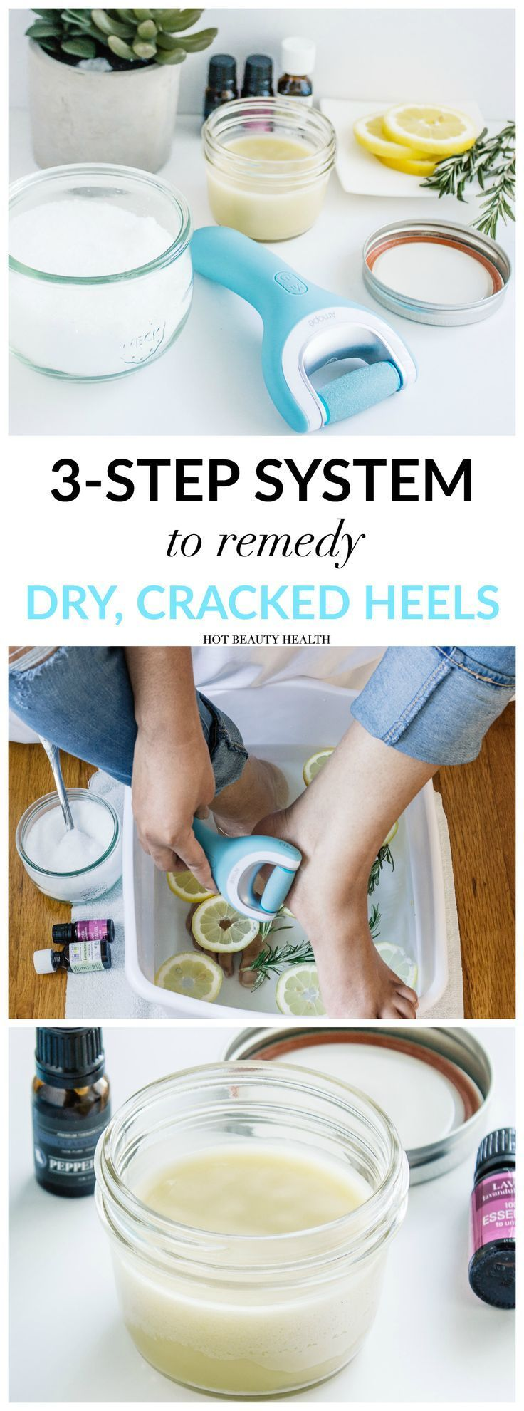 Get your dry, cracked feet holiday ready for heels and open toe shoes using my diy beauty recipes and with Amopé Pedi Perfect foot file. Makes the perfect Christmas gift for him or her!