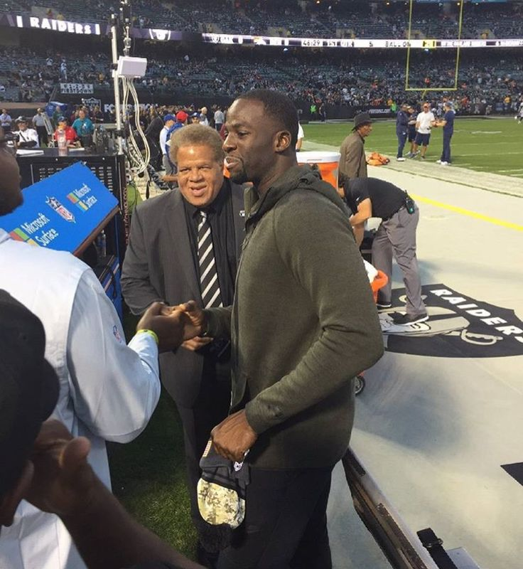 Draymond Green attends the Raiders Football game on Sunday November 7, 2016