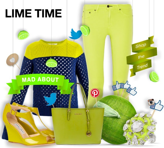 Time for lime - mad about - shopthemagazine.com #springtime #limecolor