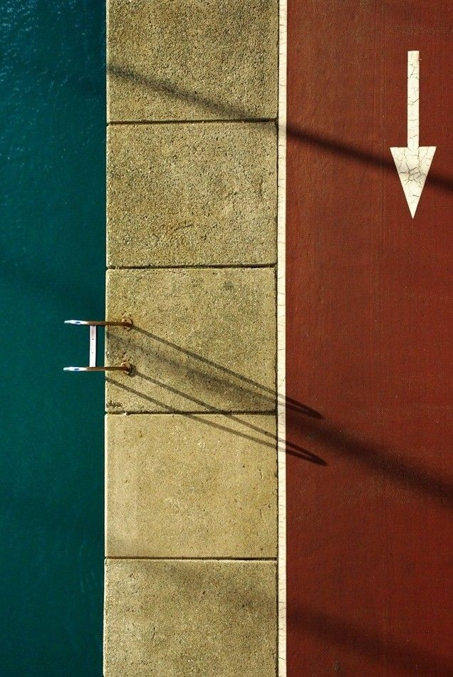 Photography ideas and inspiration. Love this bird's eye view image of a swimming pool.