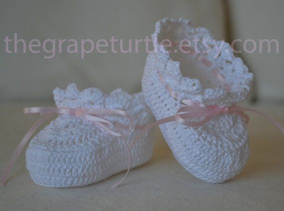 Heirloom Crochet Baby Booties, Baby Shoes, Girl or Boy ...