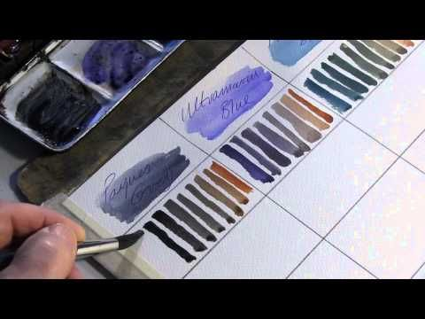 Mixing colours for watercolour painting - Alek Krylow. It took me quite awhile to do this watercolor tutorial as you have to mix each of the colors with the other. But I feel it was definitely worth the time. I now have a beautiful page full of mixed colors and now know exactly what to mix together to get what I desire.