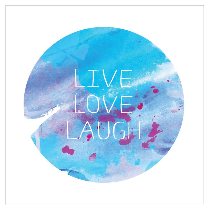 Deluxe Living - 'Live, Love Laugh - Blue Watercolour' Typography Ready to Frame Print, $24.95 (http://www.deluxeliving.com.au/live-love-laugh-blue-watercolour-typography-ready-to-frame-print/)