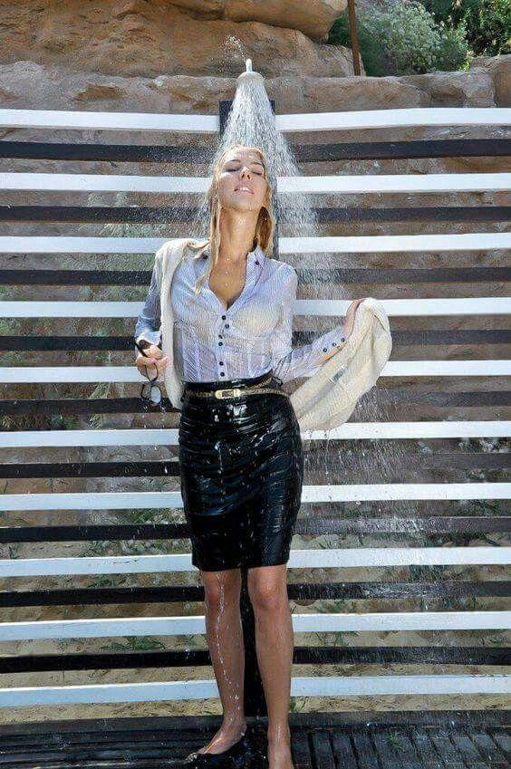 Sweet Wetlook Wet Look Leggings Dress Skirt Dresses