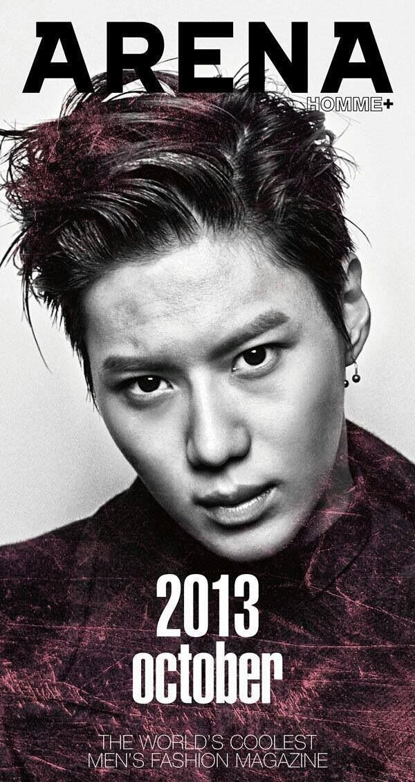 Lee Taemin - I don't care for this one so much. The dichotomy between this look and his actual age (20) - just, no.