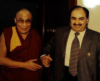 Optometrist Vipin Buckshey with spiritual leader Dalai Lama