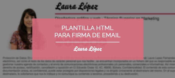 plantilla firma email html