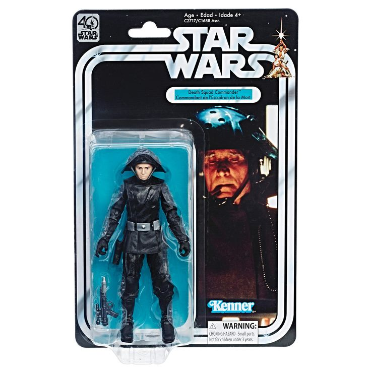Star Wars 40th Anniversary Black Series 1977 Carded Figures : Death Squad Commander.