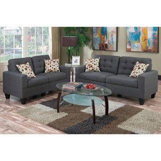 Shop for Bobkona Windsor Linen Like Poly Fabric 2 Piece Sofa and Loveseat  Set. Best 25  Sofa set online ideas on Pinterest   Wooden sofa  Wooden