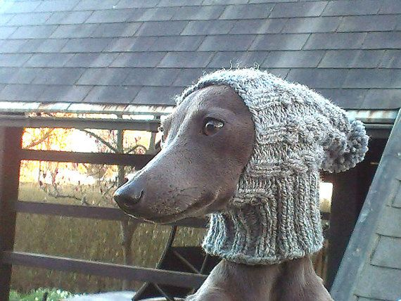 Italian Greyhound Hat / Greyhound Hat / Greyhound Snood / Dog Hat / Cable Dog Hat / Beanie Dog Hat