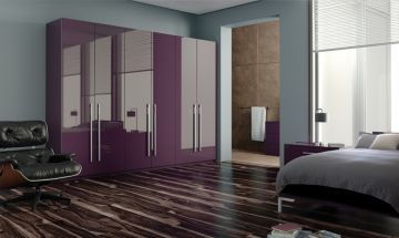 Ultragloss Plum Bedroom Doors - By BA Components