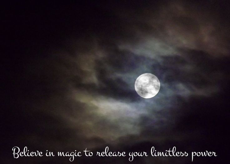 Inspirational quote to print and display today - Magical Moon Power Quote for Halloween X