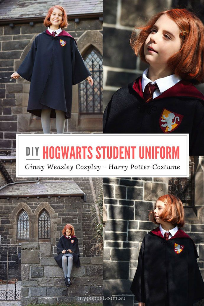 Diy Hogwarts Robes Ginny Weasley Cosplay My Poppet Makes Hogwarts Robes Harry Potter Costume Harry Potter Robes
