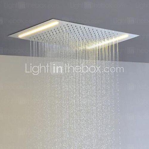 aço inoxidável 304 110V ~ 220V alternada atual chefe chuva chuveiro casa de banho com a poupança de energia lâmpadas led - EUR €325.68