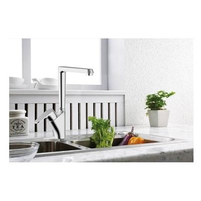 American Standard Robson Chrome 1-Handle High-Arc Sink/Counter Mount Traditional Kitchen Faucet