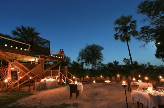 Lovely night atmosphere at Abu Camp (Okavango Delta, Botswana). Wanna visit that fantastic place? Just let us know: info@gondwanatoursandsafaris.com