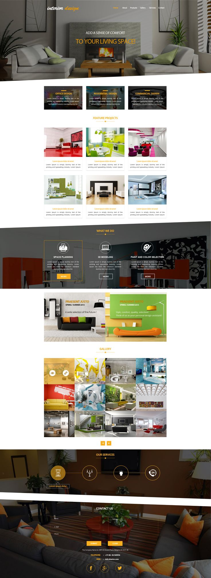 Sell365s Interior Design Template One Of The Best Website Builder In India And