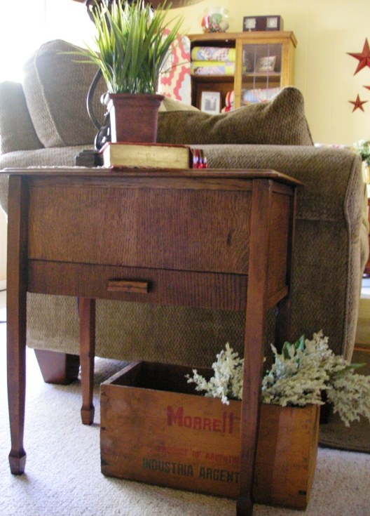 Another Cute Sewing Table Turned End Table