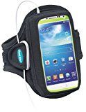 Armband for Galaxy S3, S4 with OtterBox; Also fits iPhone 5/5s/5c/SE with OtterBox Defender - Great for Running, Jogging, Sports & Workouts - for Men & Women [Black]
