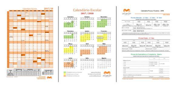 Calendário Escolar 2017/18 - portalmath.pt - Matemática Online