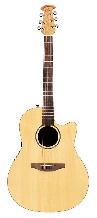 This is the acoustic guitar I play. An Ovation Balladeer Special. Purchased in 2004.