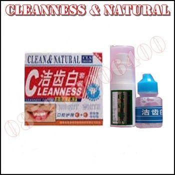 Obat Pemutih Gigi Alami Cleanness & Natural Atau Cleanness Tooth Produk Herbal Yang berfungsi Untuk Memutihkan Gigi Kuning atau Cokelat Karena Berbagai Sebab.