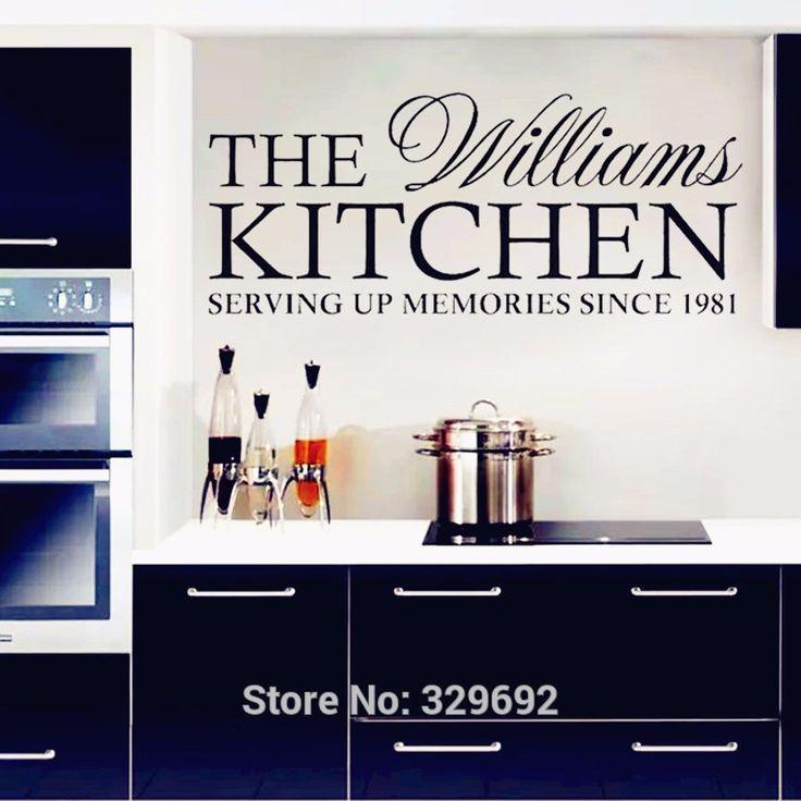 Персонализированные семейная кухня стены наклейки на стены домашнего декора современный стиль наклейки для украшения стен кухня наклейки