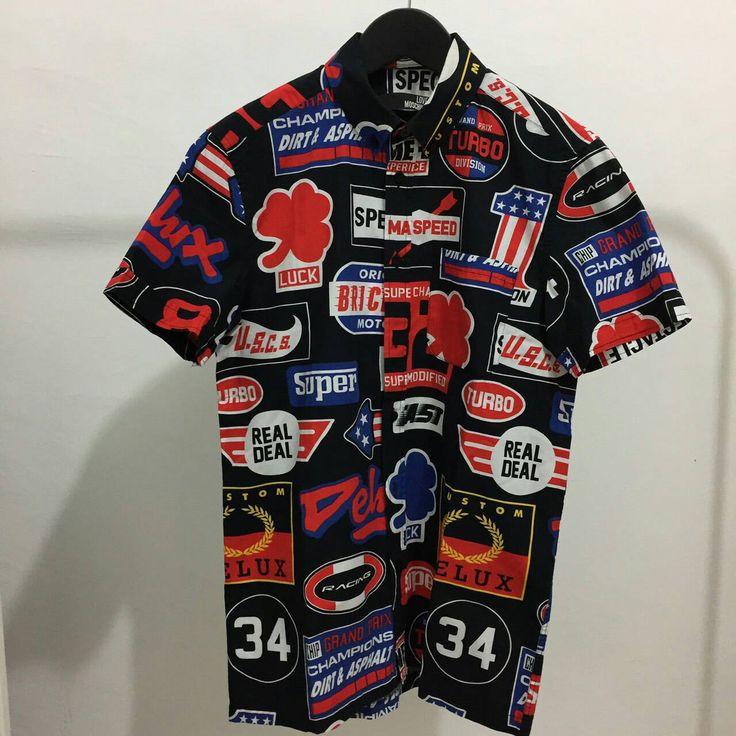 Love Moschino all over moto print pocket short sleeve shirt by Okubukovintagestuff on Etsy