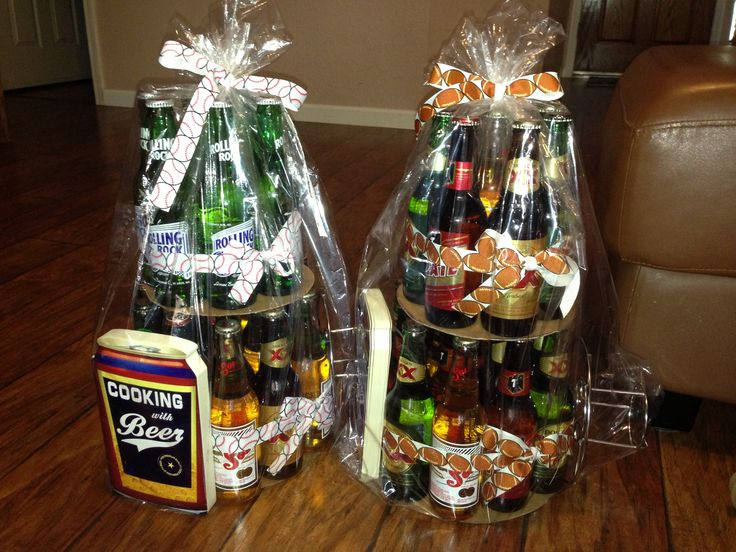 beer bottle cake tower instructions