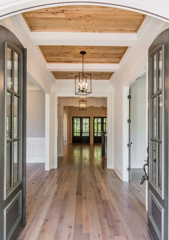 The 25 best wood plank ceiling ideas on pinterest plank Shiplap tray ceiling