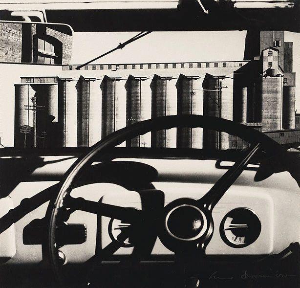 Silos Through Windscreen | Maxwell Dupain