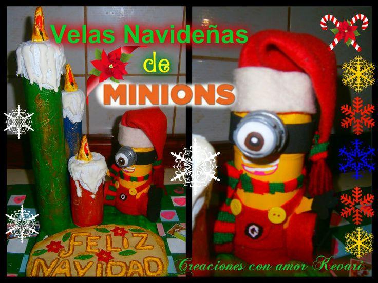 excellent velas navideas de minions with navideas reciclaje - Imagenes Navideas