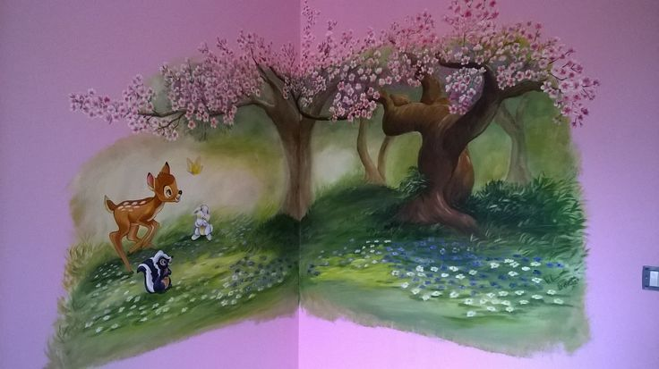 parete dipinta con bambi 2016  autore Natalia Albanese