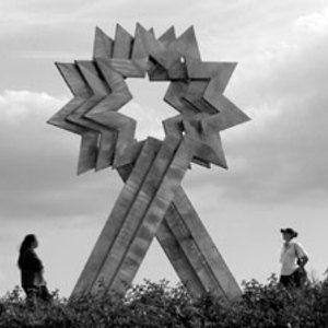 Paul Neagu, Triple Starhead 1987, sculpture at Furtzon Lake