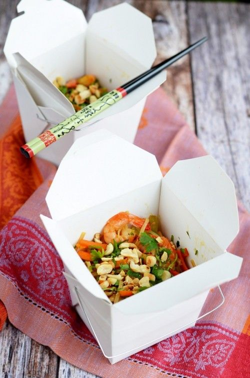 Pad thai rákkal recept