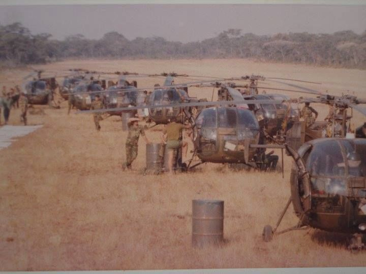 -Bush War , Rhodesian Light Infantryor SAP Koevoet , Alouette III Gunships !