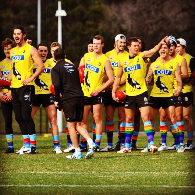 Our players proudly wore rainbow coloured footy socks at training yesterday to help raise awareness for Zaidee's Rainbow Foundation