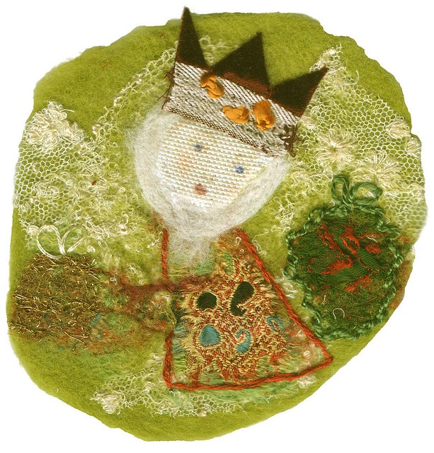 'Felted King No.1' card with Rag Rescue for Vintage fabrics and trims, via Flickr