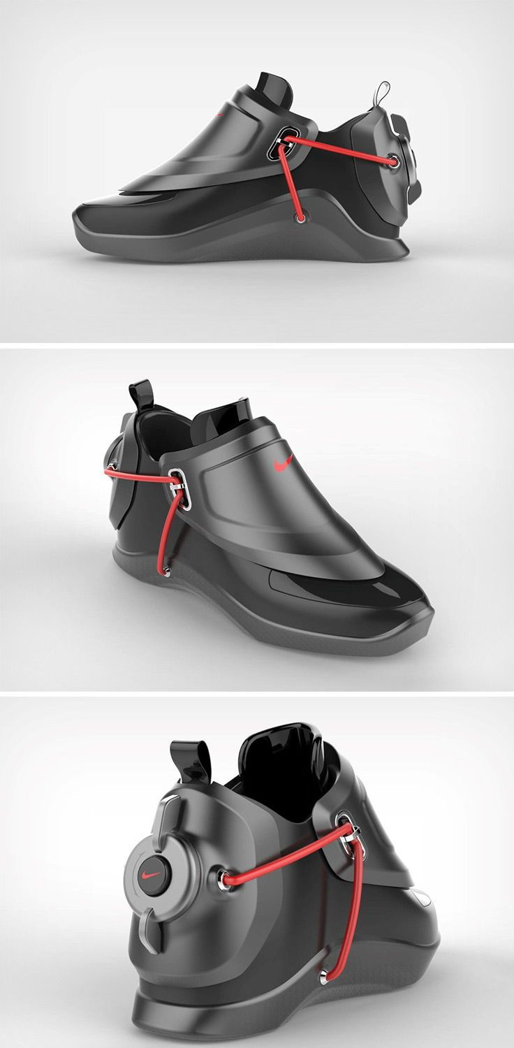 Carota Design S Nike Self Lacing Sneaker Concepts Literally Look Like They Re From The Future Designe Futuristic Shoes Sneakers Men Fashion Mens Fashion Shoes