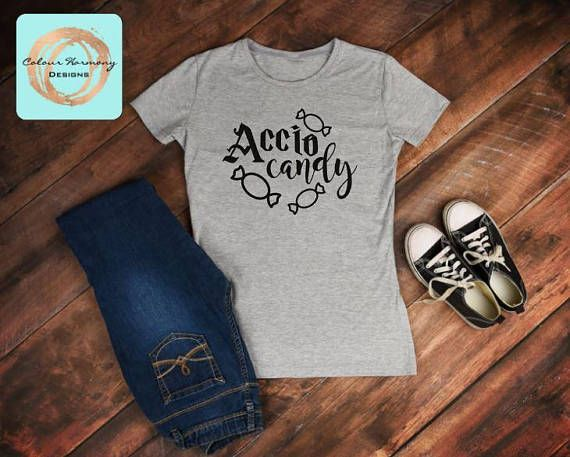 Accio Candy Harry Potter Halloween shirt https://www.etsy.com/listing/545412912/accio-candy-halloween-shirt