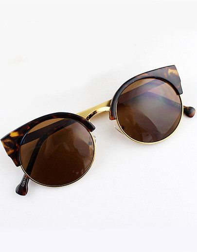 Brown Cat Eyed Sunglasses