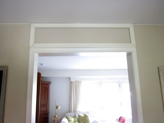 How to Make a Fake Transom Window For A Doorway ...