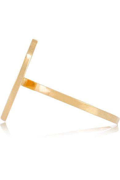 Jennifer Meyer - Letter 18-karat Gold Diamond Ring - M 5