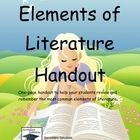 FREE Elements of literature reference with definitions.  Compact and to the point.Thanks again for stopping by, and if you do decide to purchase, ...: Free, Homeschool La, Ideas Teaching Resources, English Language, Reading Language Arts, Ela 9 12, Homeschool Reading, Classroom Ideas