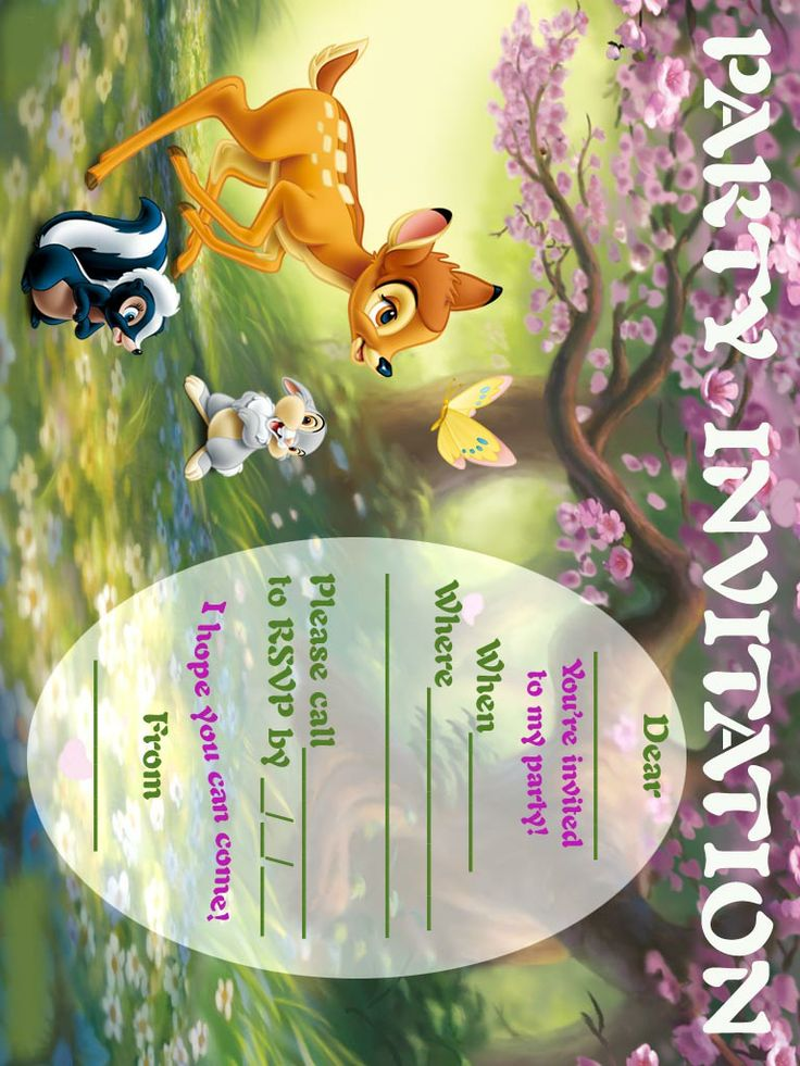 Bambi Free Invitation Party Printable Free Printable