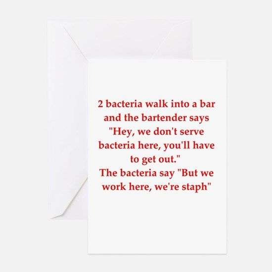 funny science joke Greeting Card for